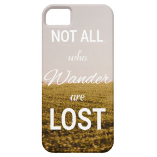 Not All Who Wander are Lost Typography Photography iPhone SE/5/5s Case