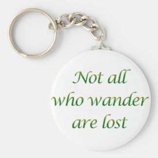 Not All Who Wander Basic Round Button Keychain