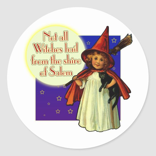 Not All Witches... Classic Round Sticker