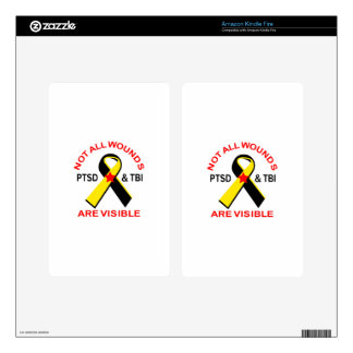 NOT ALL WOUNDS ARE VISIBLE KINDLE FIRE DECAL