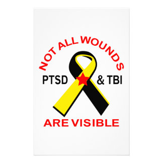 NOT ALL WOUNDS ARE VISIBLE STATIONERY