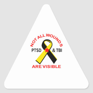 NOT ALL WOUNDS ARE VISIBLE TRIANGLE STICKER