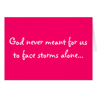 not alone greeting card