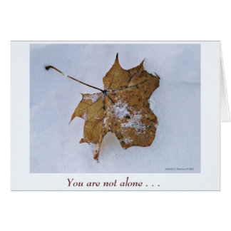 Not alone - card