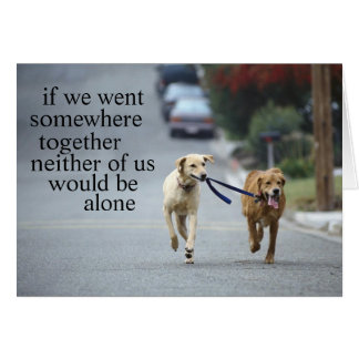not alone stationery note card