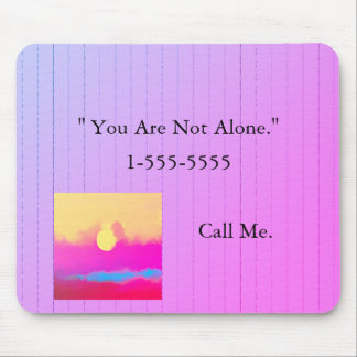 NOT ALONE-NUMBER_Art-TEMPLATE-DESIGN II(c)_Unisex Mouse Pad