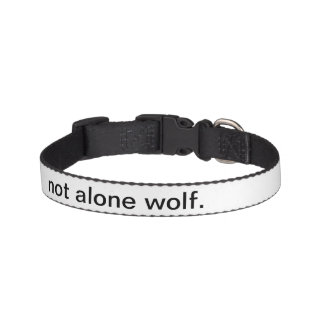 NOT ALONE WOLF PET COLLAR