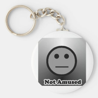Not Amused Basic Round Button Keychain