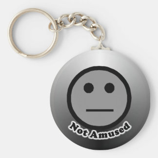 Not Amused button Basic Round Button Keychain