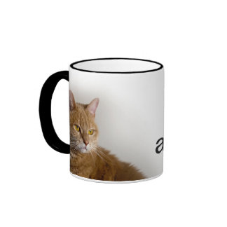 """""""Not Amused"""" Cat Cup - exclusively from MogsOnMugs Coffee Mugs"""