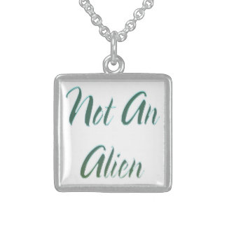 Not An Alien Green Sterling Silver Necklace