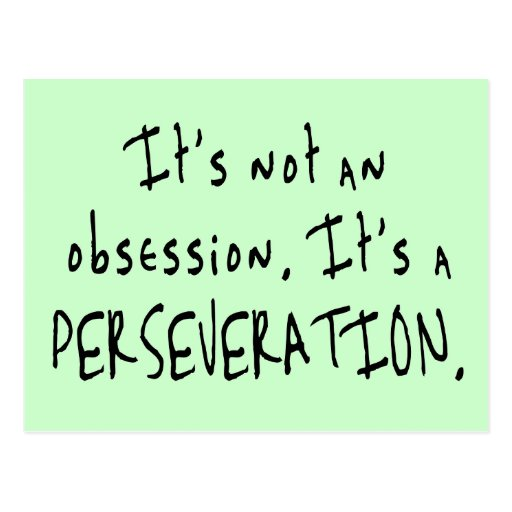 Not an Obsession Postcard