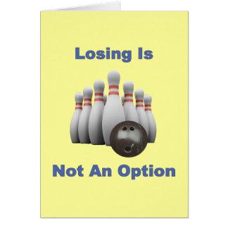 Not An Option Bowling Card