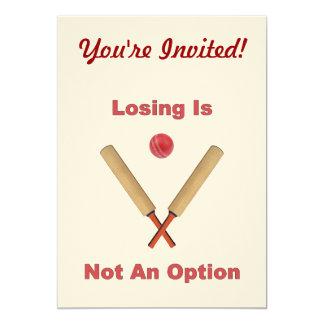 Not An Option Cricket Custom Invitations