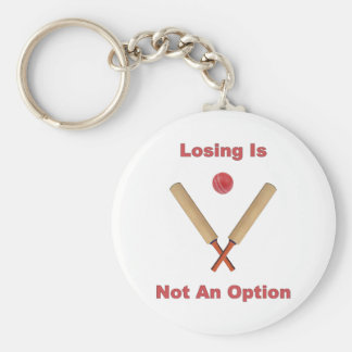 Not An Option Cricket Keychain