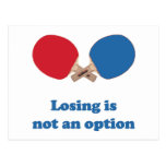 Not an Option Ping Pong Post Card