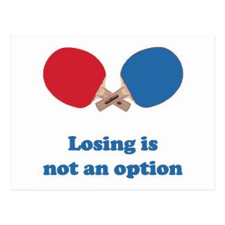 Not an Option Ping Pong Postcard