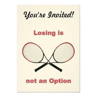 Not an Option Tennis 5x7 Paper Invitation Card