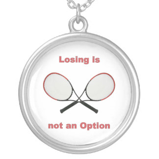 Not an Option Tennis Round Pendant Necklace