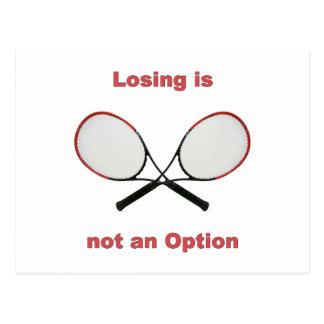 Not an Option Tennis Postcard