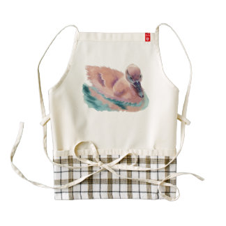 """Not an Ugly Duckling"" Zazzle HEART Apron"