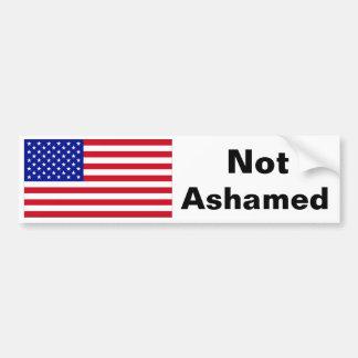 Not Ashamed American Flag Bumper Sticker 2