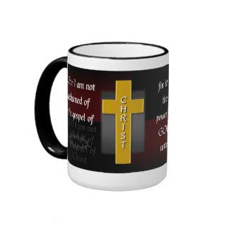 Not Ashamed Christian Bible Verse Coffee Mug