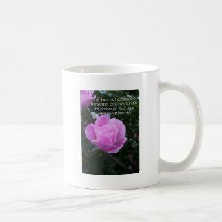 not ashamed of the gospel classic white coffee mug