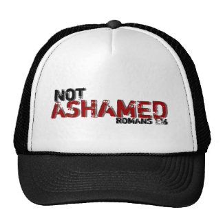 Not Ashamed Romans 1:16 Inspired Bible Quote Hat