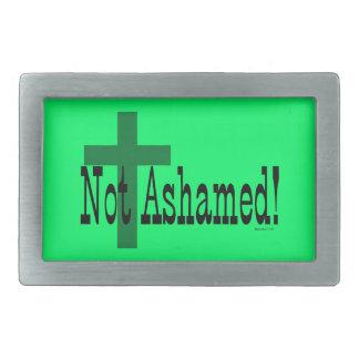 Not Ashamed! Romans 1:16 (with Cross) Belt Buckle