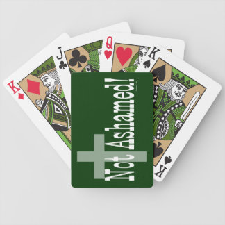 Not Ashamed! Romans 1:16 (with Cross) Bicycle Playing Cards