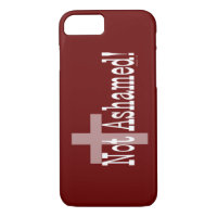 Not Ashamed! Romans 1:16 (with Cross) iPhone 8/7 Case