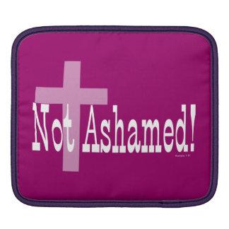 Not Ashamed! Romans 1:16 (with Cross) iPad Sleeve