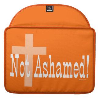 Not Ashamed! Romans 1:16 (with Cross) Sleeve For MacBooks