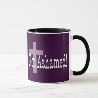 Not Ashamed! Romans 1:16 (with Cross) Mug