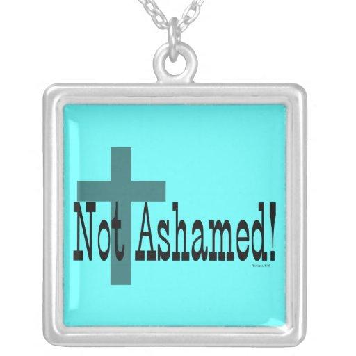 Not Ashamed! Romans 1:16 (with Cross) Custom Jewelry