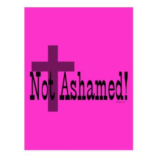 Not Ashamed! Romans 1:16 (with Cross) Postcard