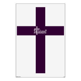 Not Ashamed! Romans 1:16 (with Cross) Room Sticker
