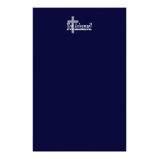 Not Ashamed! Romans 1:16 (with Cross) Stationery