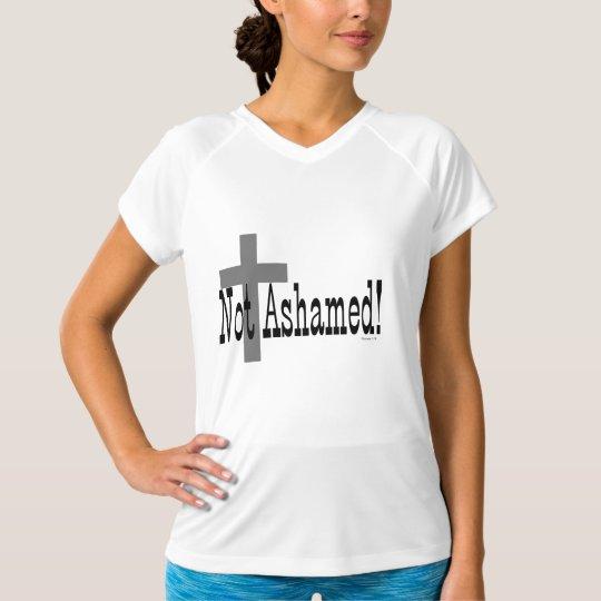 Not Ashamed! Romans 1:16 (with Cross) T-Shirt