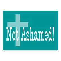 Not Ashamed! Romans 1:16 (with Cross) Tract Cards/ Business Card Template