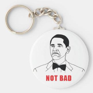 Not Bad Basic Round Button Keychain