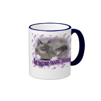 Not before noon (in purple) ringer mug