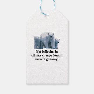 Not believing in climate change gift tags