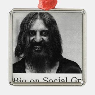 Not Big on Social Graces Metal Ornament