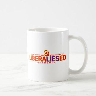 Not Brainwashed by LiberalLIESed Academia Classic White Coffee Mug