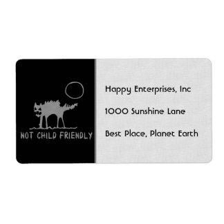 Not Child Friendly Label
