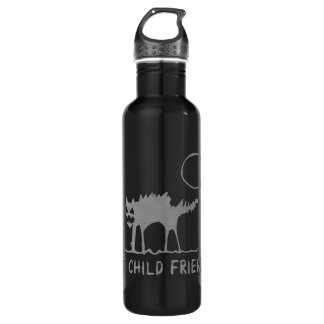 Not Child Friendly Stainless Steel Water Bottle