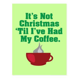Not Christmas Until Coffee Postcard