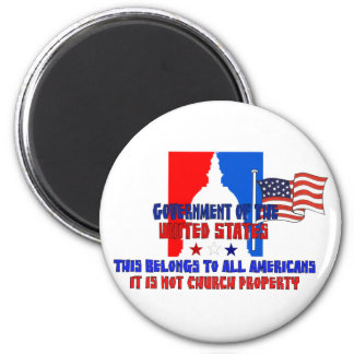 Not Church Property 2 Inch Round Magnet